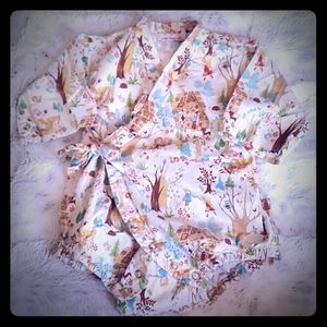 Lucky Wang NYC Onesie/Kimono Size 3mo